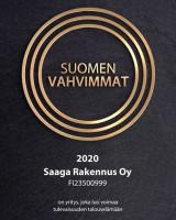 Saaga Rakennus kuuluu Suomen Vahvimpiin